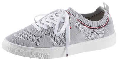 TOMMY HILFIGER »KNITTED TOMMY HILFIGER SNEAKER« Slip On Sneaker mit aufgesetzter Schnürung