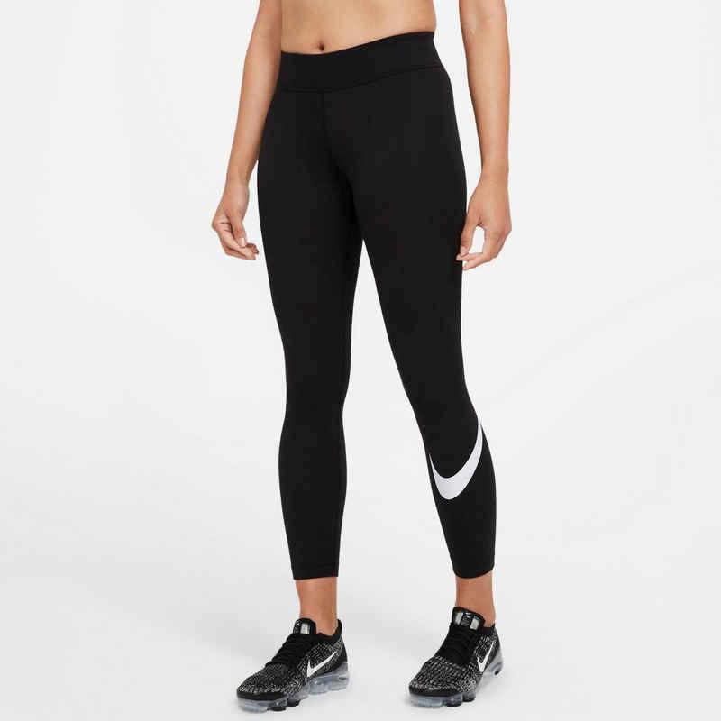 Nike Sportswear Leggings »Nsw Essntl Lggng Swoosh Plus Women's Mid-rise Swoosh Leggings Plus Size«