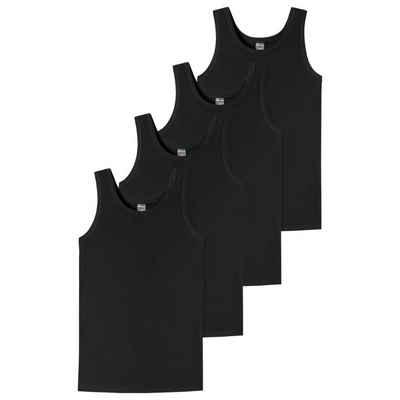 Schiesser Unterhemd »4er Pack Teens Boys - 95/5 Organic Cotton« (4 Stück), Unterhemd - Runder Halsausschnitt, Arm- und Halsausschnitt mit Einfass, Breite Träger für hohen Tragekomfort