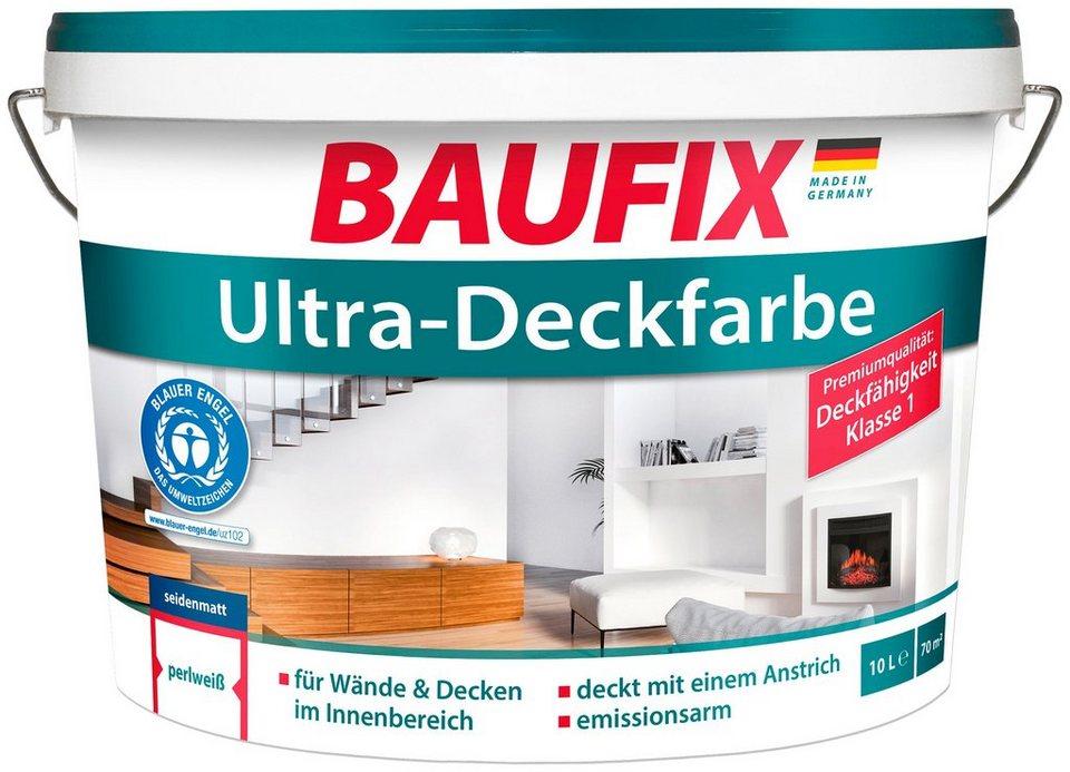 Baufix Wand Und Deckenfarbe Ultra Deckfarbe Fur Den Innenbereich Weiss 10 L Online Kaufen Otto