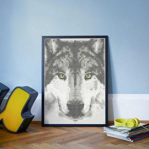 Dot On Malvorlage »dot on art - wolf, 50 x 70 cm«