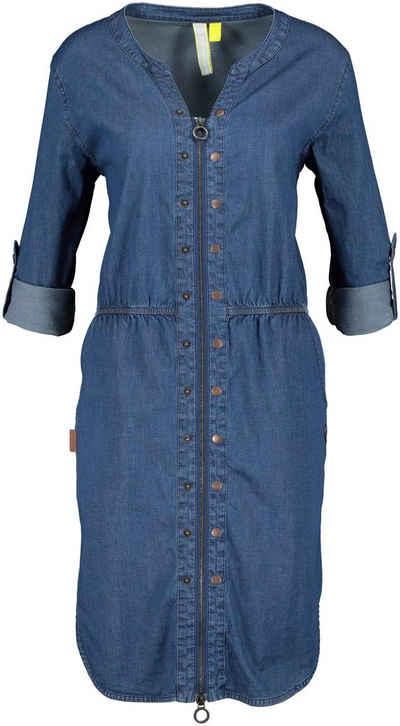 Alife & Kickin Jeanskleid »HannaAK« lässiges Kleid aus Denim-Stretch mit 2-Way-Zipper und Seitentaschen