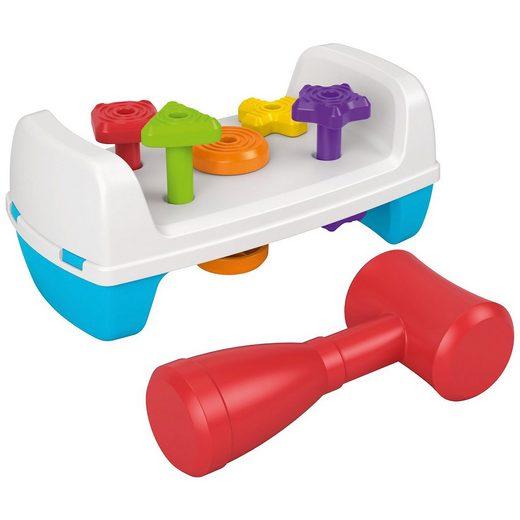 Mattel® Fisher-Price Werkbank mit Spielzeughammer, Motorik-Spielzeug