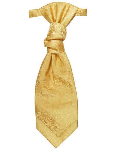 Paul Malone Krawatte »Elegantes Herren Plastron barock Hochzeitskrawatte - vorgebunden - Bräutigam Hochzeitsmode« gold v97
