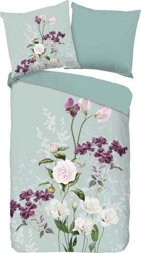 Wendebettwäsche »Charlotte«, good morning, mit Blumen