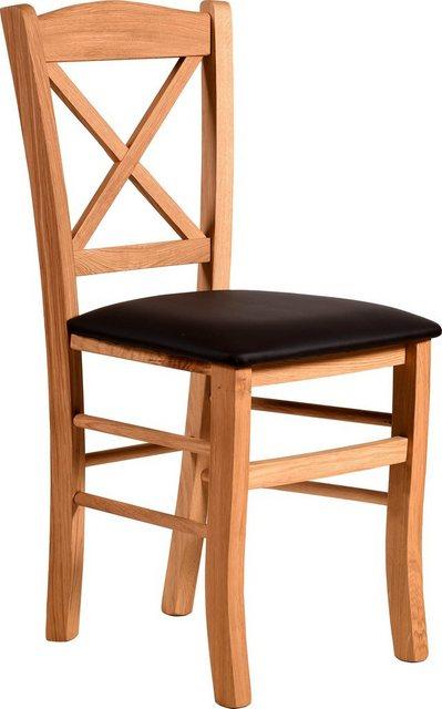 Home affaire Esszimmerstuhl »Clayton« mit Gestell aus Massivholz im 2er-set | Küche und Esszimmer > Stühle und Hocker | home affaire