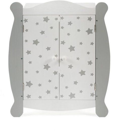CHIC2000 Puppenkleiderschrank »Stars grau«