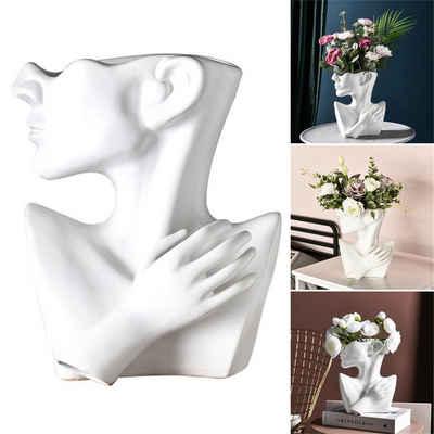 Gotui Tischvase, Kreative Keramikvase Menschliche Form Blumentopf
