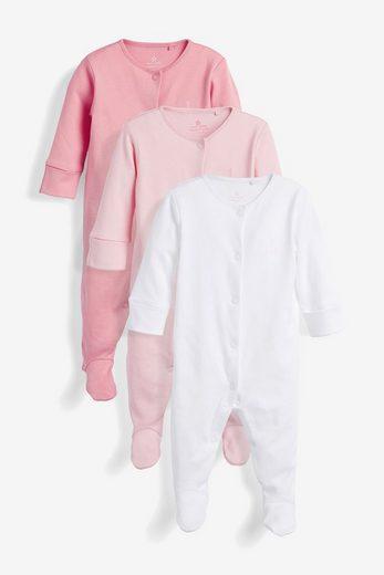 Next Schlafoverall »Schlafanzüge aus GOTS Bio-Baumwolle, 3er-Pack« (3-tlg)