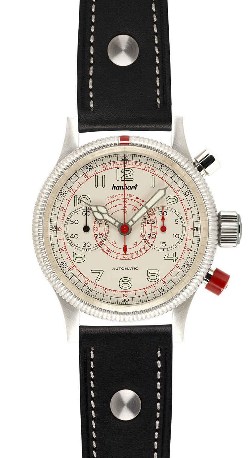 hanhart Chronograph »Herren-Chronograph PIONEER TachyTele AS«, inkl. Lederhülle