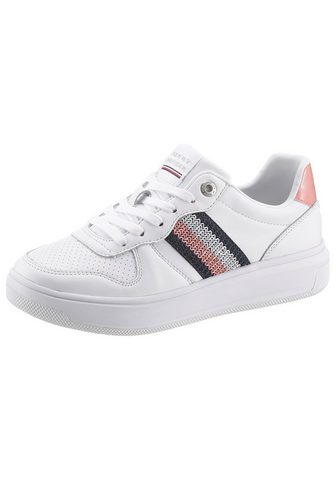 TOMMY HILFIGER »CORPORATE TOMMY LEATHER CUPSOLE« Plat...