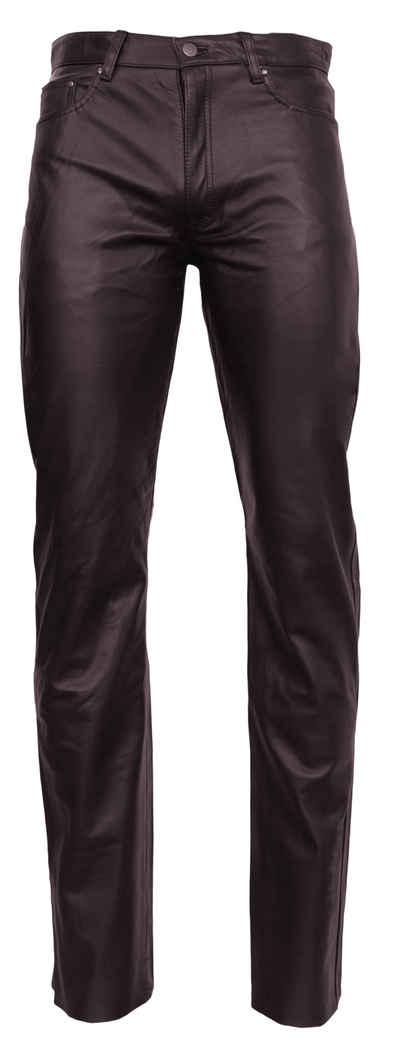 RICANO Lederhose »No. 3 TR (Cow Waxy)« Hochwertiges Büffel-Nappa Leder ; 5-Pocket-Stil - Lederjeans