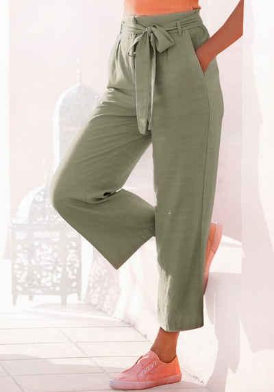 LASCANA Culotte (mit Bindegürtel) aus weichem Twill