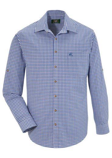 OS-Trachten Trachtenhemd im Karo-Look