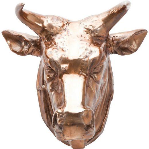 KARE Dekoobjekt »Deko Kopf Buffalo Kupfer«