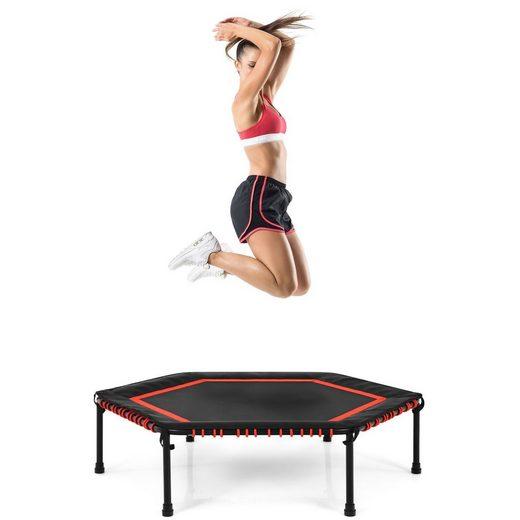 COSTWAY Fitnesstrampolin »Mini Trampoli Gartentrampolin«, φ 126 cm, Indoor- und Outdoortrampolin