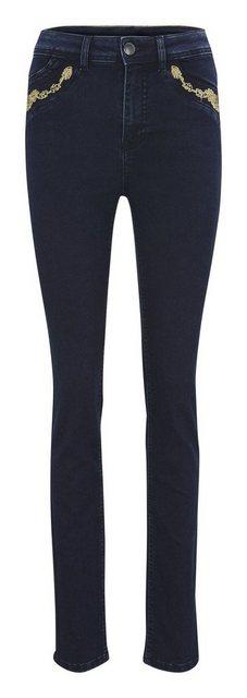 Hosen - ASHLEY BROOKE by Heine Skinny fit Jeans mit Stickerei ›  - Onlineshop OTTO