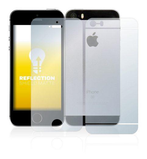 upscreen Schutzfolie »für Apple iPhone SE 2016 (Vorder + Rückseite)«, Folie Schutzfolie matt entspiegelt