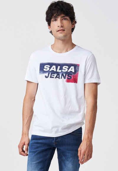 Salsa Kurzarmshirt »PALM BEACH« Regular T-Shirt Short Sleeve