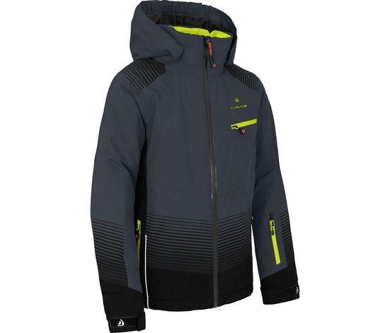 Bergson Winterjacke »VEIKO« Kinder Skijacke, wattiert, 20000 mm Wassersäule, Normalgrößen, dunkel grau