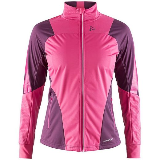 Craft Laufjacke »Craft Sharp Langlauf-Jacke winddichte Damen Funktions-Jacke Sportjacke Rosa«