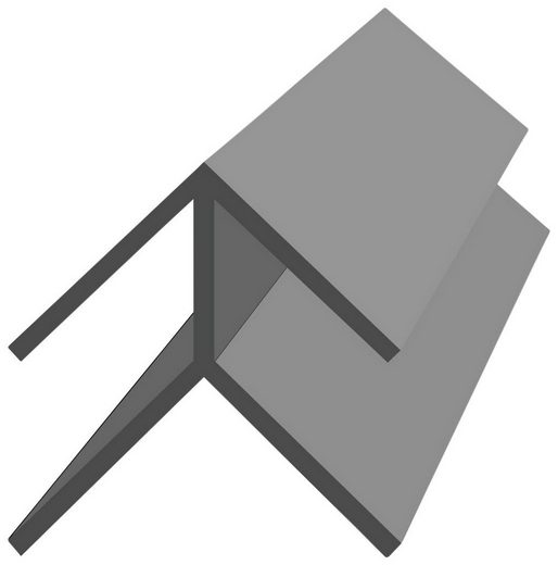 Baukulit VOX Eckprofil »Fine-Line B1 Aussenecke« (Set, 2-St., 2er-Set), 260 cm