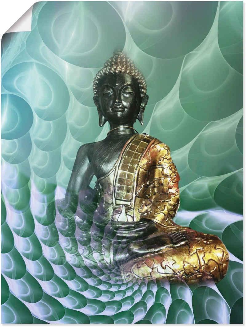 Artland Wandbild »Buddhas Traumwelt CB«, Religion (1 Stück), in vielen Größen & Produktarten - Alubild / Outdoorbild für den Außenbereich, Leinwandbild, Poster, Wandaufkleber / Wandtattoo auch für Badezimmer geeignet