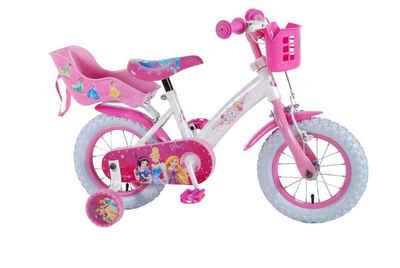 Volare Kinderfahrrad »12 Zoll Kinder Mädchen Fahrrad Mädchenfahrrad Mädchenrad Kinderfahrrad Rad Bike Disney Princess Prinzessin Volare 31206 DC-it«, Stützräder, Puppensitz, Korb