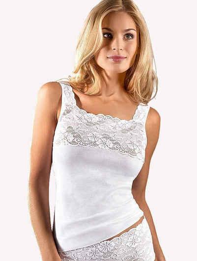 Nina Von C. Unterhemd »Trägershirt mit Spitze« (1 Stück), Made in Europe