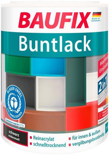 BAUFIX Acryl Buntlack seidenmatt schwarz, 1 l
