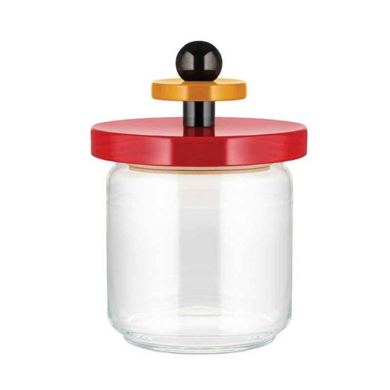 Alessi Aufbewahrungsbox »Aufbewahrungsglas TWERGI 1 l«, Glas, Buchenholz, Silikon