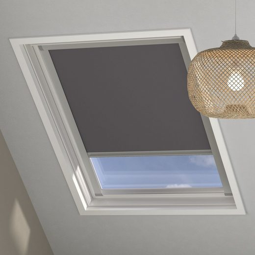 Dachfensterrollo C02 »Sky-Rollo«, my home, verdunkelnd, in Führungsschienen, Dachfenster-Rollo mit Kassette und Seitenprofilen