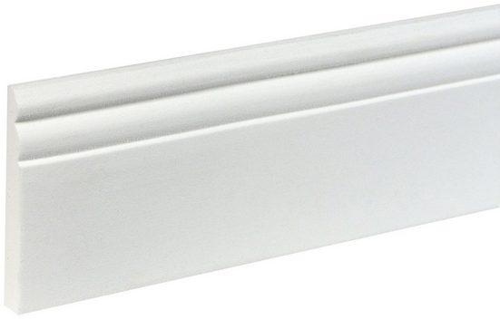BODENMEISTER : Sockelleiste »Biegeleiste Hamburger Profil weiß«, flexibel, biegbar, Höhe: 9 cm
