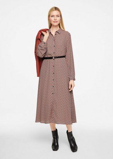 Comma Minikleid »Tailliertes Kleid mit Print«