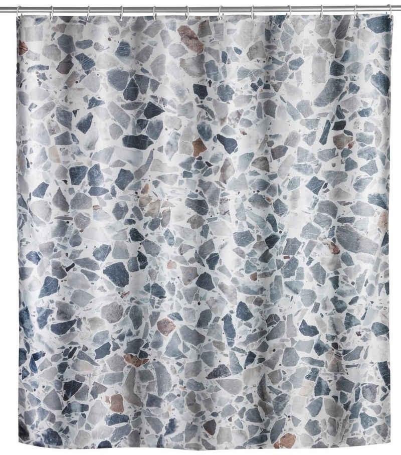 WENKO Duschvorhang »Terrazzo« Breite 180 cm, Höhe 200 cm, Textil (Polyester)