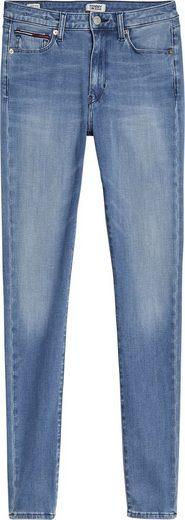 TOMMY JEANS Skinny-fit-Jeans »SYLVIA HR SUPER SKINNY DYAMD« mit Tommy Jeans Logo-Badge & Streifen