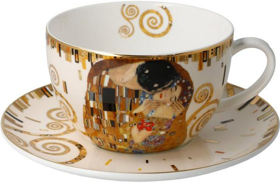 Goebel Cappuccinotasse »Der Kuss«, Fine China-Porzellan, von Gustav Klimt