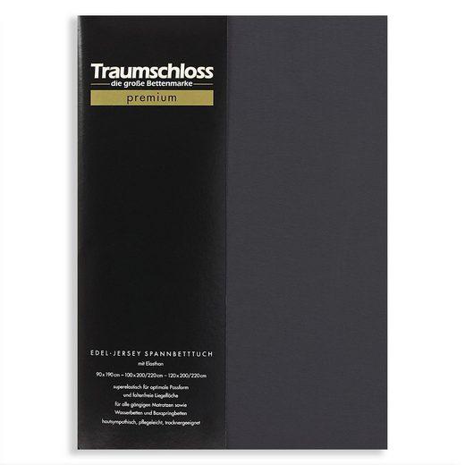 Spannbettlaken »Premium«, Traumschloss, 165g/m², 95% gekämmte Mako Baumwolle, 5% Elasthan