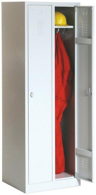 Protaurus Kleiderschrank mit Sockel und 2 Abteilen Serie ECO
