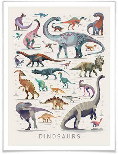 Wall-Art Poster »Dinosaurs«, Dinosaurier (1 Stück), Poster, Wandbild, Bild, Wandposter