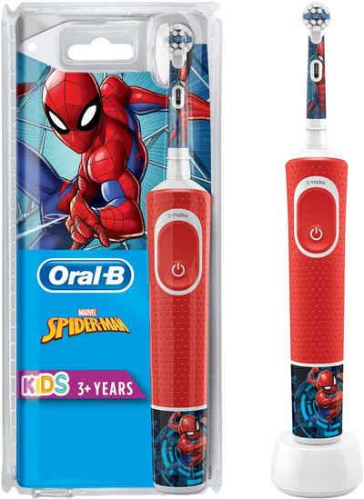 Oral B Elektrische Kinderzahnbürste Kids Spiderman, Aufsteckbürsten: 1 St.