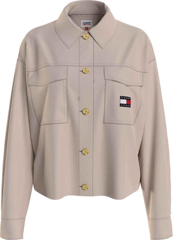 Tommy Jeans Hemdbluse »TJW CROPPED BADGE OVERSHIRT« mit großen aufgesetzen Brusttaschen & Tommy Jeans Logo-Badge