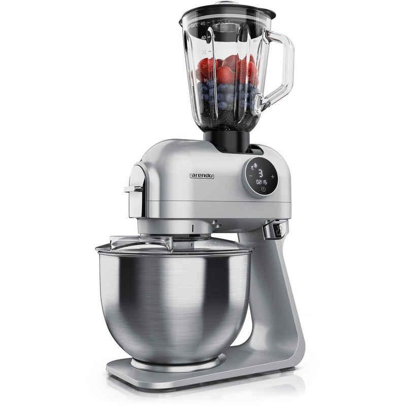 Arendo Küchenmaschine, 1200 W, Küchenmaschine digital inkl. Standmixer - 1200 W – Rührmaschine Knetmaschine- 5l Edelstahlschüssel
