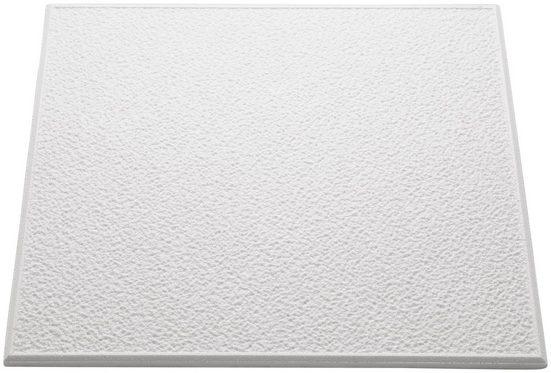 Decoflair Deckenplatten »Deckenplatte T101«, (Set, 16-tlg) in Putzoptik