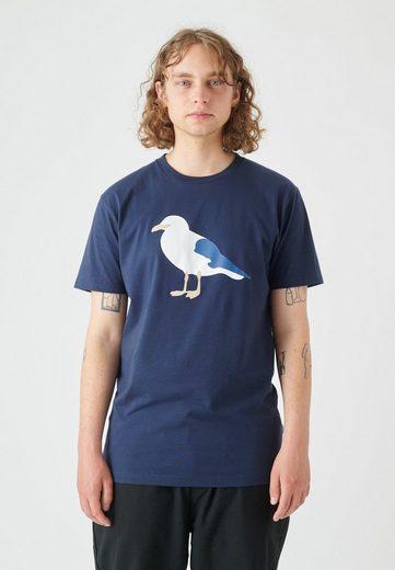 Cleptomanicx T-Shirt »Gull« mit großem Möwenprint