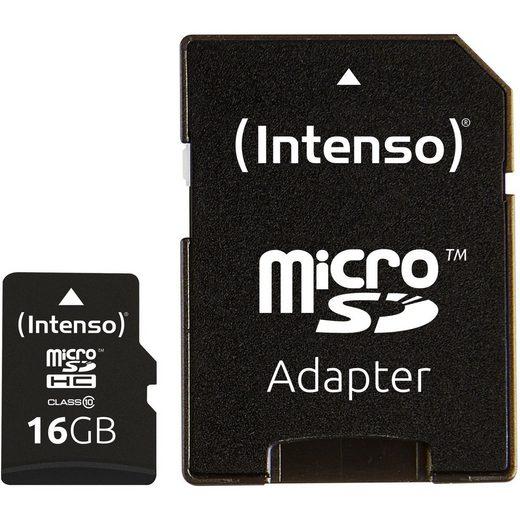 Intenso »microSDHC 16 GB, Class 10« Speicherkarte