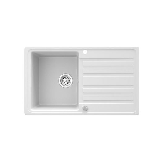 Bergstroem Küchenspüle »Granit Spüle Einbauspüle Auflage Spülbecken Küche reversibel Weiß«