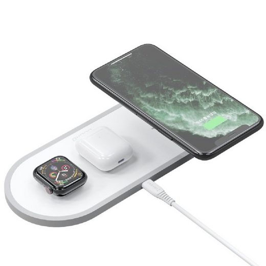 Dudao »Dudao 3in1 Qi Wireless Charger Pad 10W Ladestation Ladegerät Weiß für Apple Watch, Airpords, iPhone 11 PRO MAX, XR XS MAX X 8 PLUS« Wireless Charger