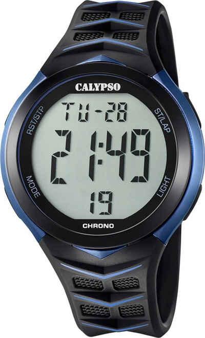 CALYPSO WATCHES Digitaluhr »UK5730/2 Calypso Herren Uhr K5730/2 Kunststoffband«, (Digitaluhr), Herren Armbanduhr rund, Kunststoff, PURarmband schwarz, Fashion