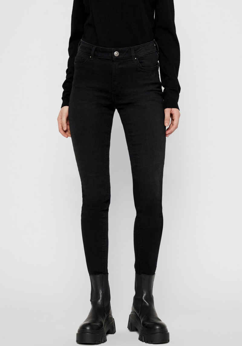 pieces Skinny-fit-Jeans »PCDELLY« Black washed